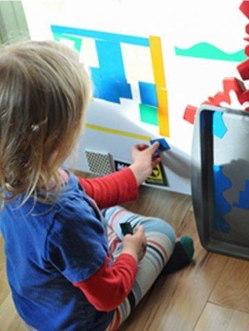 Магнитная стена для детей