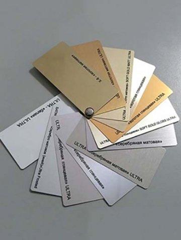 Металл различного цвета для табличек