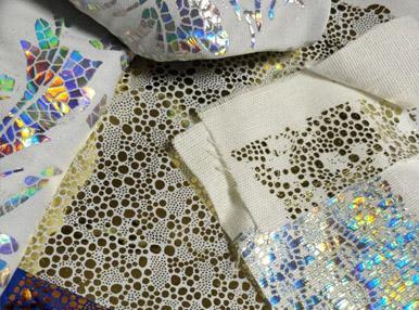 Фольгирование ткани