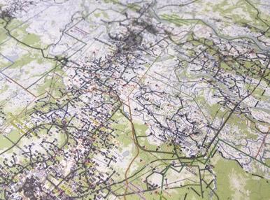 Карта на натуральном холсте