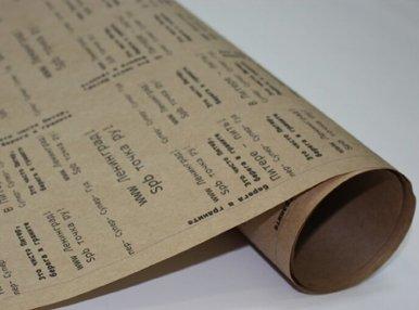 Печать оберточной бумаги