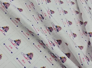 Печать бирок на ткане