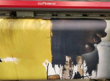 Печать на натуральном холсте 1.6 метров