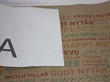 Печать бумаги для упаковки