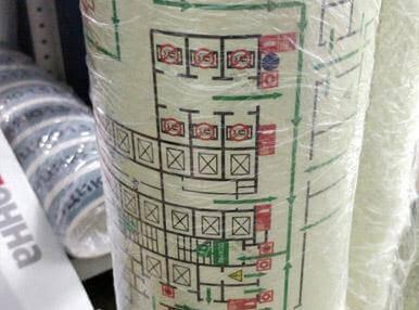Печать планов эвакуации на светонакапливающей пленки