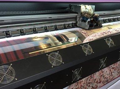 Печать на 3-метровой ткани